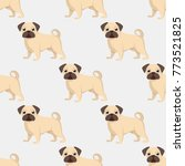 seamless pattern of dogs ... | Shutterstock .eps vector #773521825