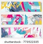 hand drawn creative universal... | Shutterstock .eps vector #773522335