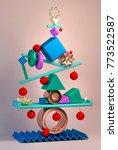 3d rendering of modern abstract ... | Shutterstock . vector #773522587