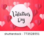 happy valentine's day design... | Shutterstock .eps vector #773528551