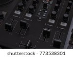 dj audio mixer controller | Shutterstock . vector #773538301