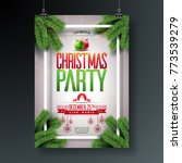 vector christmas party flyer... | Shutterstock .eps vector #773539279