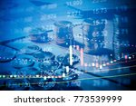 various type of financial and... | Shutterstock . vector #773539999