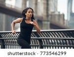 african american woman running... | Shutterstock . vector #773546299