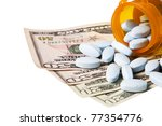 costly daily medication on a... | Shutterstock . vector #77354776