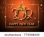 2019 happy new year background... | Shutterstock .eps vector #773548435