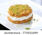 arabic sweet dessert | Shutterstock . vector #773551099