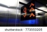 in elevator of modern business... | Shutterstock . vector #773553205