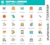 flat online shopping and e... | Shutterstock .eps vector #773559589