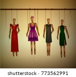 woman outfit concept  outfit... | Shutterstock .eps vector #773562991