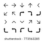 arrow direction vector... | Shutterstock .eps vector #773563285