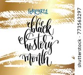 february 1   black history... | Shutterstock .eps vector #773563297