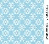 white floral pattern on blue... | Shutterstock .eps vector #773564311