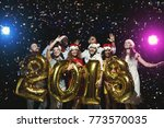 office christmas party. group... | Shutterstock . vector #773570035
