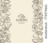 background with almond  almond... | Shutterstock .eps vector #773574661
