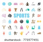 sports icons set | Shutterstock .eps vector #773577451