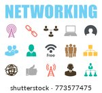 networking icons set | Shutterstock .eps vector #773577475