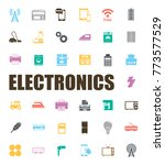 electronics icons set | Shutterstock .eps vector #773577529
