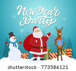 new year party   cartoon... | Shutterstock . vector #773586121