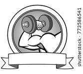 bodybuilding contest banner... | Shutterstock .eps vector #773586541
