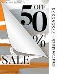 sale advertisement banner on... | Shutterstock .eps vector #773595271