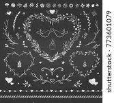 valentines day romantic floral... | Shutterstock .eps vector #773601079