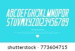italic style alphabet letters... | Shutterstock .eps vector #773604715