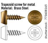 trapezoid screw for metal brass ...   Shutterstock .eps vector #773608165