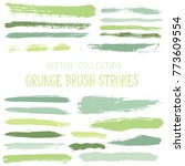 hipster paint brush strokes... | Shutterstock .eps vector #773609554