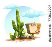 vector cartoon illustration of... | Shutterstock .eps vector #773611009