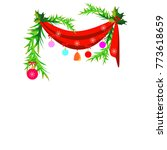christmas tree decor | Shutterstock .eps vector #773618659