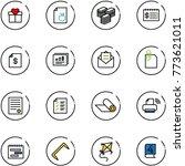 line vector icon set   gift...   Shutterstock .eps vector #773621011
