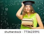 back to school  happy teen... | Shutterstock . vector #773623591