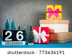 december 26th. image 26 day of... | Shutterstock . vector #773636191