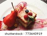 exquisite restaurant dessert....   Shutterstock . vector #773640919