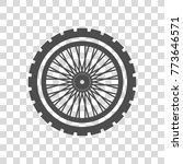 Motorcycle Wheel Vector Icon