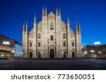 milan cathedral  duomo di...   Shutterstock . vector #773650051