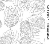 coloring seamless pattern... | Shutterstock .eps vector #773651191