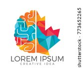 creative brain and maple leaf... | Shutterstock .eps vector #773652265