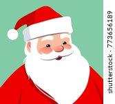vector cartoon santa claus...   Shutterstock .eps vector #773656189