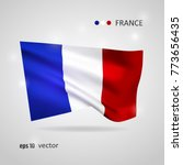 france 3d style glowing flag... | Shutterstock .eps vector #773656435