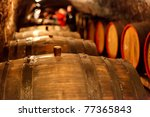 old wine cellar with barrels | Shutterstock . vector #77365843