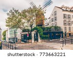 cozy street with tables of cafe ... | Shutterstock . vector #773663221