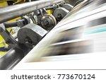 printing machine  hit set speed ... | Shutterstock . vector #773670124