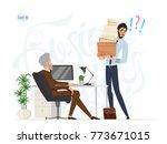 business meeting. boss and... | Shutterstock .eps vector #773671015
