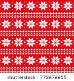 christmas seamless pattern ... | Shutterstock .eps vector #773676655