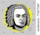 creative modern portrait of... | Shutterstock .eps vector #773677369