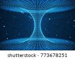 3d illustration tunnel or... | Shutterstock . vector #773678251