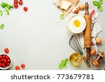 fresh food ingredients for... | Shutterstock . vector #773679781