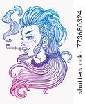 hand drawn beautiful artwork of ... | Shutterstock .eps vector #773680324